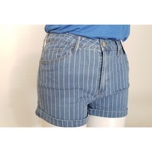 SO Favorite Hi-Rise Striped Blue Shortie,  15 NWT